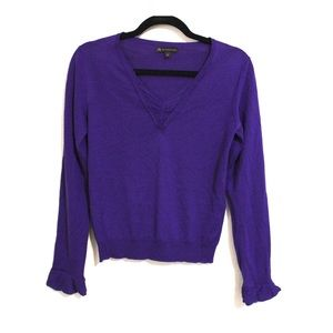 Burberry Royal Purple Merino Wool And Silk Top